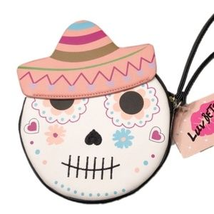 Betsey Johnson Luv Betsey Sugar Skull Coin Purse